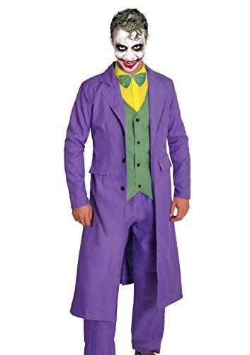 Ciao- Joker Costume Adulto Originale DC Comics (Taglia XL) Disfraces, Color Violeta, 11684