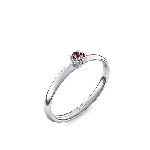 Platin Ring Turmalin pink 950 + inkl. Luxusetui + Turmalin pink Ring Platin Turmalin pinkring Platin (Platin 950) - Concinnity Amoonic Schmuck Größe 58 (18.5) AM161 PL950TPFA58