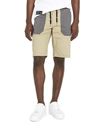 Avirex Men's Patch Pocket Shorts, Tree House, 36