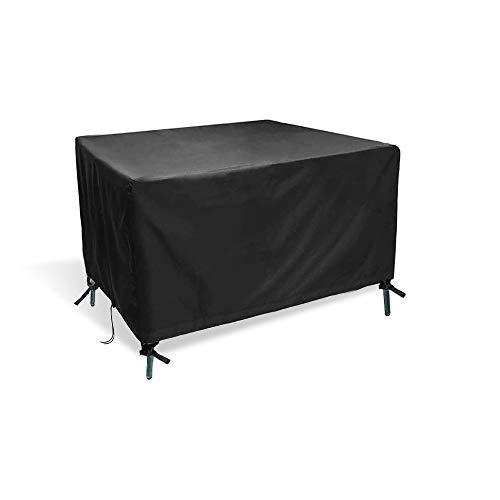 Ranikeer Housse de Table de Jardin, Bâche de Protection en 420D Tissu Oxford Couverture Imperméable Anti-UV Antipoussière pour Salon Canapé Chaises Meuble Extérieur, 170x115x71cm
