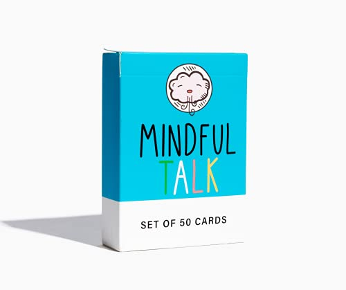 School of Mindful- Mindfulness Game for Kids: Mindful Talk Cards for Children and Parents- for Authentic and Meaningful Conversations