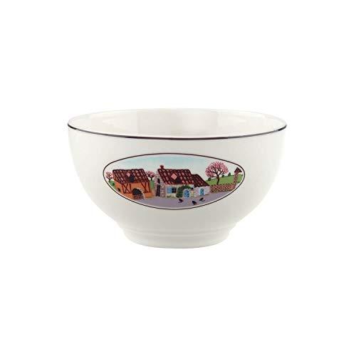 Villeroy & Boch Design Naif Bol à céréales, Porcelaine Premium, Blanc/Multicolore
