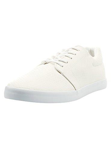 oodji Ultra Hombre Zapatillas de Piel Sintética de Suela Fina, Beige, 46 EU / 11 UK