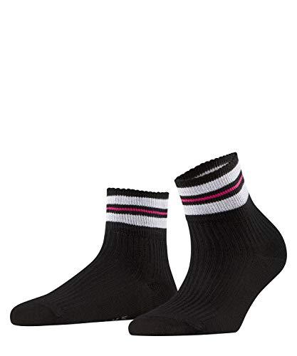 FALKE Damen Socken Style Flow, Baumwollmischung, 1 Paar, Schwarz (Black 3000), Größe: 41-42
