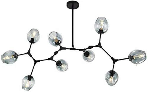 Sputnik Molecules Chandelier, E27 Vintage Industrial Gold Ramas Colgante Lámpara de techo ajustable Iluminación de la luz de la bola de cristal de la mano de la bola de cristal