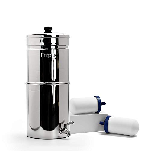 Propur Nomad Countertop Gravity Water Filter System - Removes Fluoride, Lead, Chlorine,...