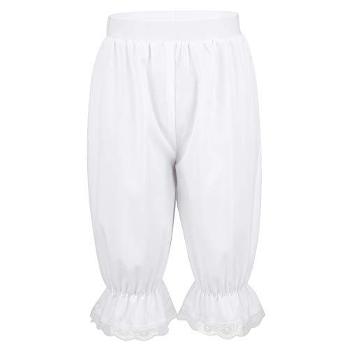 IEFIEL Pantalones Holgados de Niños Niñas Disfraz de Danza Pololos Encaje Disfraces Victoriano Vintage Ropa de Dormir Bloomers