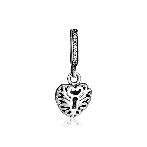 Pandora 925 Sterling Silverfit Herz Vorhängeschloss Charms Original Charm Beads für die Herstellung von Bead diy Love Schmuck