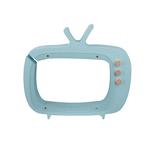 Ruiting Spardose Kinder aus Harz, Kreativ TV-Form Sparbüchse 23 * 21 * 3cm 1 Stück (Blau)