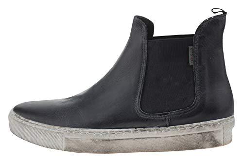 OTTO KERN 80639 Leder Sneaker Chelsea-Boot schwarz, Groesse:38