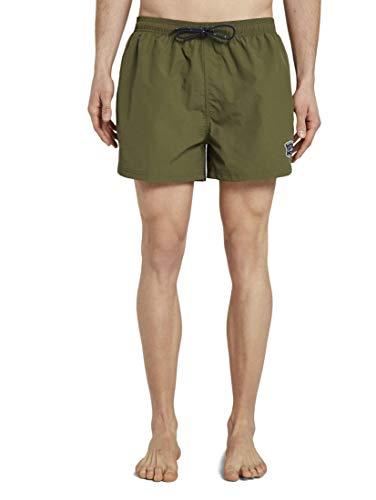 TOM TAILOR Herren Nightwear Badeshorts mit Badge Avocado,L,P507,7000