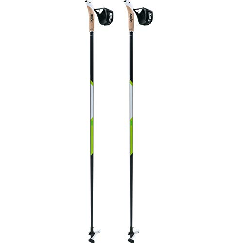 Swix CT4 Nordic Walking Stock Lime Carbon Tech mit Twist & Go Spitze 1 Paar 120cm