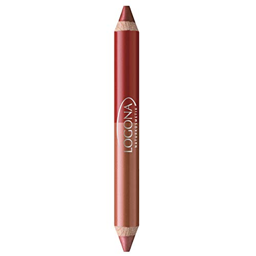 Logona - 1008clev05 - Maquillage - Rouge à Lèvres Crayon Duo N° 05 - Ruby Red - 2,98 g