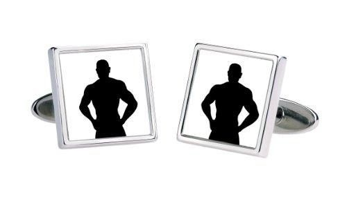 Sonia Spencer England - 3506 - Boutons de manchette Homme -Rhodium plaqué