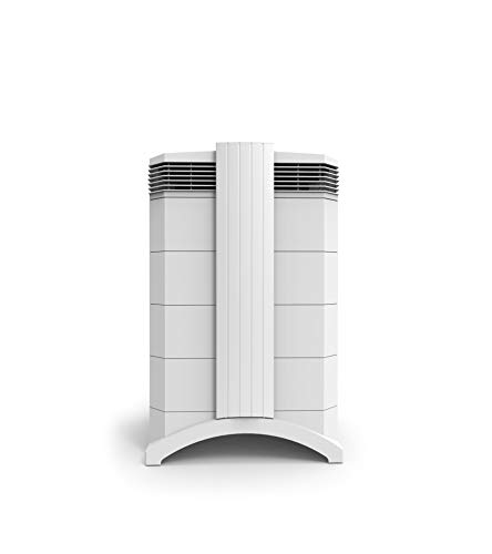 IQAir HealthPro Compact – High-Airflow Medical-Grade Air Purifier with H13 HyperHEPA Filter for Particles - Bacteria, Viruses, Airborne Contaminants, Allergens, Pets, Asthma Triggers, Pollen, Dust; Swiss Made, White