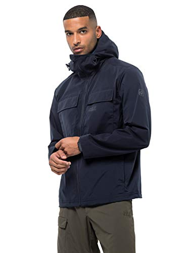 Jack Wolfskin Herren Windbreaker SUMMER STORM JACKET M, night blue, M, 1305951-1010003