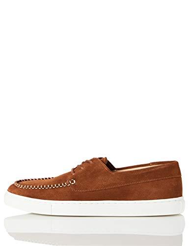 find. Cupsole Boat Shoe Náuticos, Marrón (Brown (Suede), 39 EU