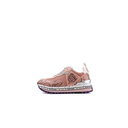 Liu Jo Maxi Alexa Sneakers Pink Platform Scarpe Donna BXX051EX025 Rosa 39