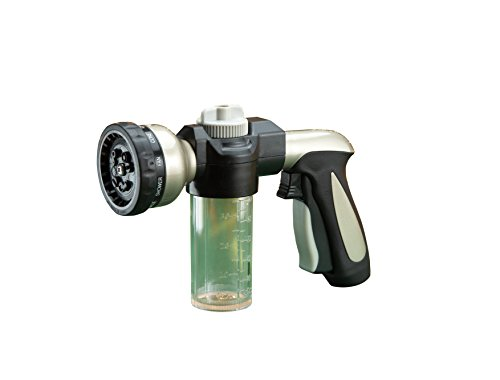 Sporty's Multi-Pattern Hose Nozzle with Soap Dispenser