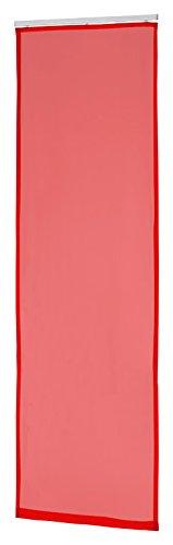 Flächenvorhang Schiebegardine Schiebevorhang Gardine Vorhang transparent (rot)