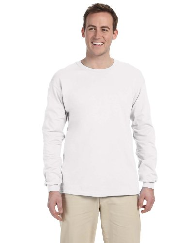 Gildan Adult L/S T-Shirt in Uniform Navy - Medium