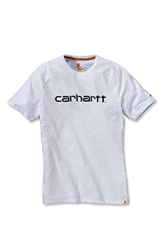 Carhartt . 102549.100.S004 Force Cotton Delmont Graphic T-Shirt für Herren, kurzärmelig, Weiß, S