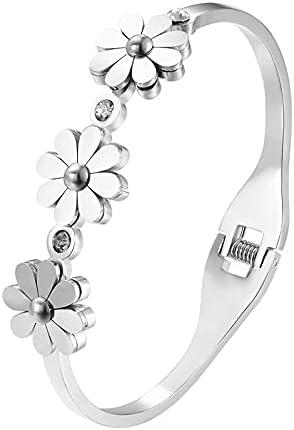 Sale High material item ZHAOSHOP Cute Crystal and 3 Chrysanthemum Shape Bracelets Bang