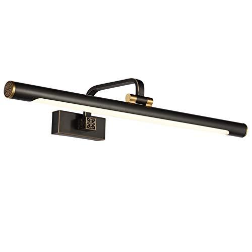 Vintage LED Spiegelleuchte, Moderne Winkel Verstellbar Badezimmer Spiegellampe Wasserdicht Anti-nebel Lange Schatten Make-up-licht Wandleuchte-bronze 8w-l: 43cm