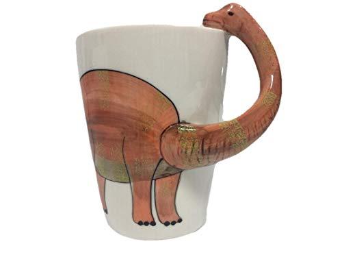 Dinosaur Mug, Ceramic 3D Brachiosaurus Shaped Dinosaur Coffee Mug