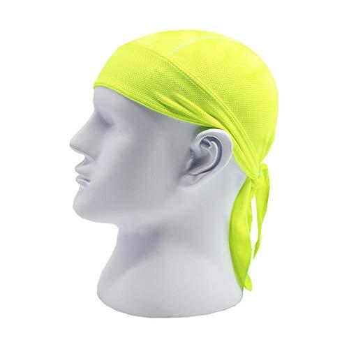 Fascia Sportiva Capelli Headbands Sport all'Aria Aperta Donna Uomo Bicicletta Bicicletta Bandana Cappello Traspirante Casco da Ciclismo Cappello Pirate Head Scarf Headband-Green