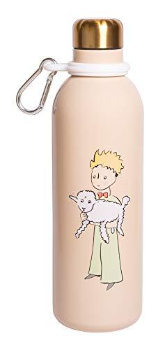 Grupo Erik Acier Inoxydable et Sans BPA Botella de Agua Acero Inoxidable con mosquetón El Principito, 500 ml