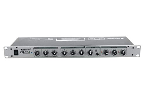 OMNITRONIC EM-260 Entertainment-Mixer | 6-Kanal-Mikrofon-Line-Mischer, Silber