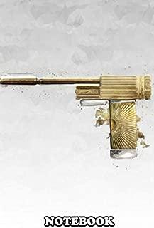 Notebook: Golden Gun , Journal for Writing, College Ruled Size 6