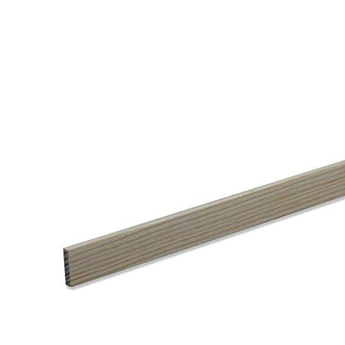 Rechteckleiste Bastelleiste Abschlussleiste aus unbehandeltem Kiefer-Massivholz 2100 x 9 x 47 mm