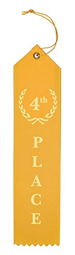 Award Ribbons Place 1st 2nd 3rd 4th 5th Premium Flat Carded Set - Blue Red White Yellow Green & Event Card 12 Each (60 Pack) - by Clinch Star Photo #3