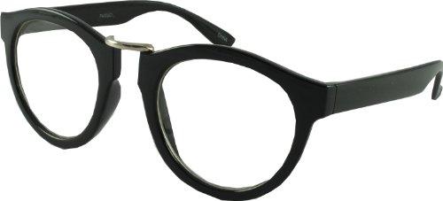 Revive Eyewear Vintage College Preppy Look Geek Occhiali - Nero