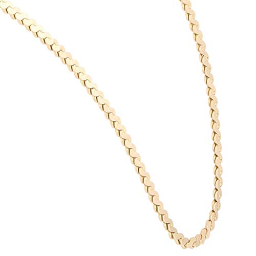 Jollys Jewellers Cadena de eslabones de oro amarillo de 9 quilates para mujer, 46,4 cm (2 mm de ancho)