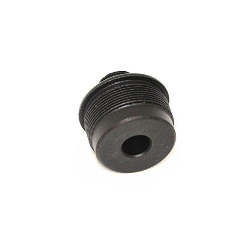 Airsoft Softair Ausrüstung Aluminium Außenfass Schalldämpfer Compensator Adapter für VSR-10 MB02 (14mm CW bis -14mm CCW) Schwarz