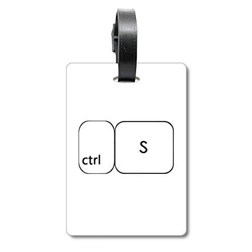 Keyboard-Symbol ctrl S Cruise Koffer Bag Tag Tourister Identification Label