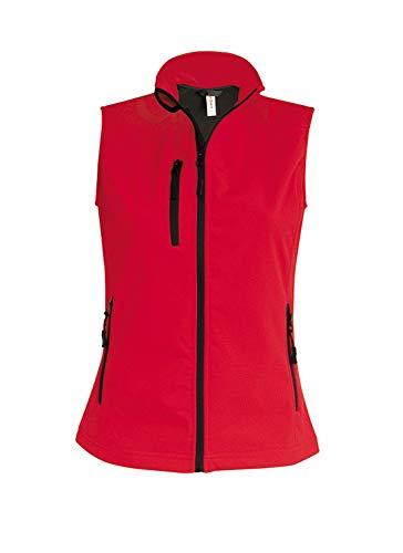 K404 Damen Softshell Bodywarmer Weste wasserdicht atmungsaktiv, Größe:S;Farbe:Red