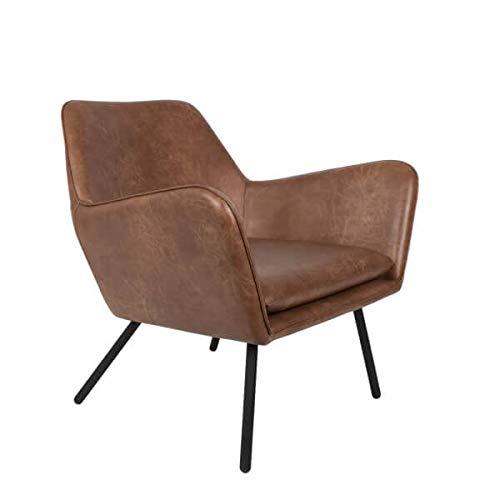 Mathi Design Alabama – Sessel für Wohnzimmer, Lederoptik, Vintage, Braun