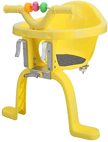 X&Y Asiento Delantero de la Bicicleta para niños, Asiento eléctrico de Seguridad con Bicicleta con Pedal y Cerca de reposabrazos adecuados para niños de 2 a 6 años. (Color : Yellow)