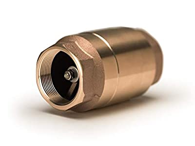 "Strataflo 2"" NPT Check Valve Lead-Free Bronze, 1 psi Cracking Pressure, 400 psi, Spring-Loaded, Inline Check Valve, NSF 372 Certified, F300-200 from Strataflo Products, Inc."