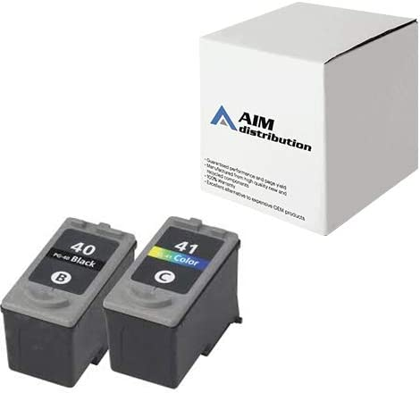 AIM Compatible Replacement for Canon PG-40/CL-41 Inkjet Combo Pack (Black/Color) (0615B009) - Generic
