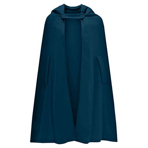 TEFIIR Unisex Kostüm Karneval Fasching Costume Umhang Cosplay Kapuze Erwachsene/Kinder Strickmantel Winter Jacken mit Kunstfell Kragen Lose Tops