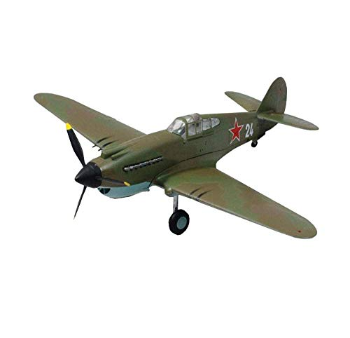 DressU Longevidad 1/72 Escala de Combate Modelo de plástico, la Segunda Guerra Mundial Militar Soviética P-40 1942 de Combate coleccionables Adultos y Regalos, 6.2 Pulgadas X 5.3inch Durabilidad