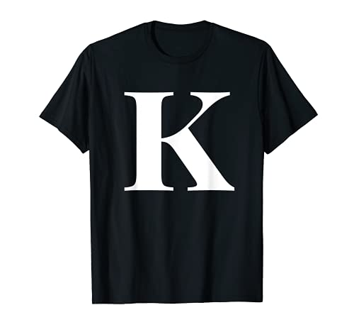 Nombre personalizado Letra inicial del alfabeto K regalo regalo Camiseta