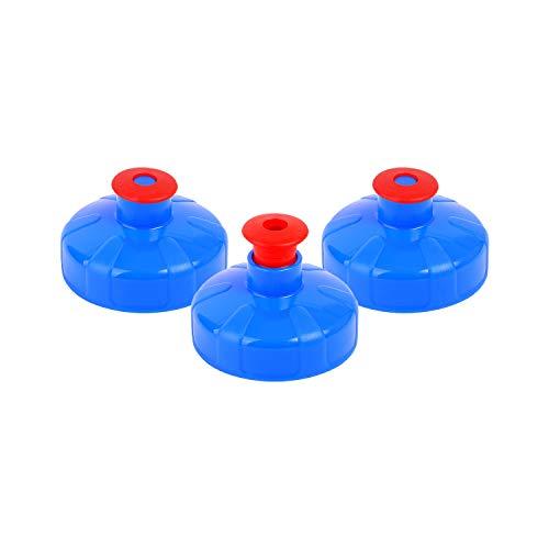 3 * Nippel Deckel (Push & pull) für 1 Liter und 0,5 Liter Tritan Flasche von Alvito; für ihr (gefiltertes) Aquadea Wirbel-Kristall- Wasser. Sportdeckel; Sporttrinkdeckel