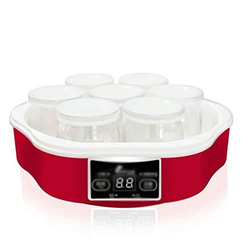 XJJZS Yogur, Yogur automático Digital Maker con Pantalla LCD de Pantalla y Yogur tarros de Yogur Natural Sano de Hacer en el hogar