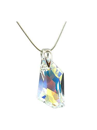 Crystals & Stones * Crystal AB* * * DE Art * 24 mm Swarovski Elements – Bella collana da donna – Ciondolo collana gioielli madre regalo con cristalli Swarovski